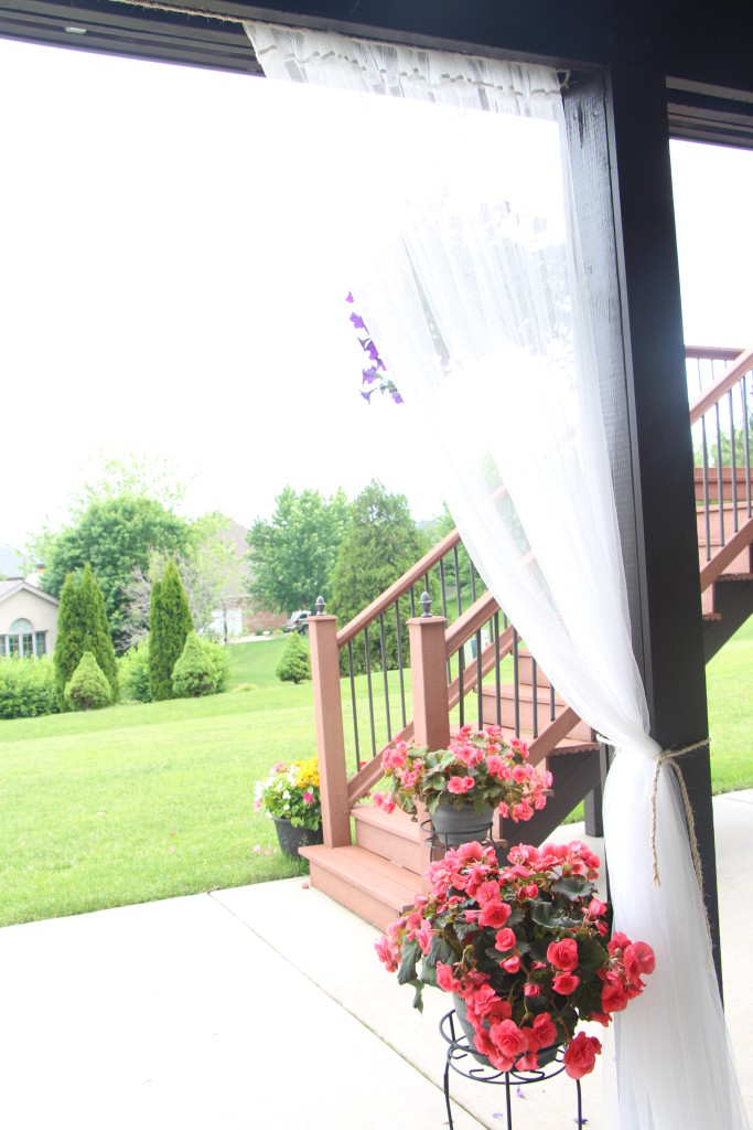 outdoor oasis   how to DIY outdoor patio curtains   This is our Bliss