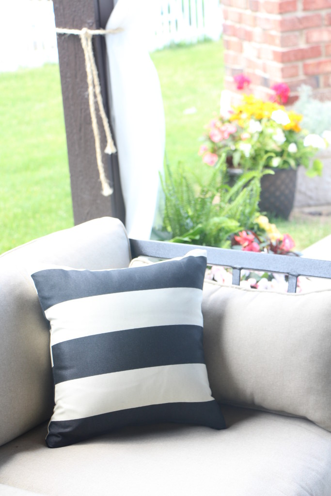 outdoor oasis   DIY outdoor patio curtains   This is our Bliss