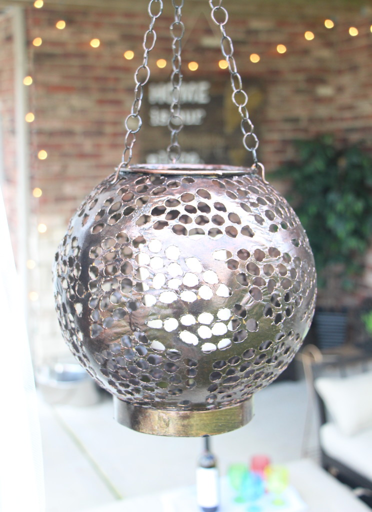 DIY outdoor decor   Outdoor oasis   hanging lanterns   This is our Bliss