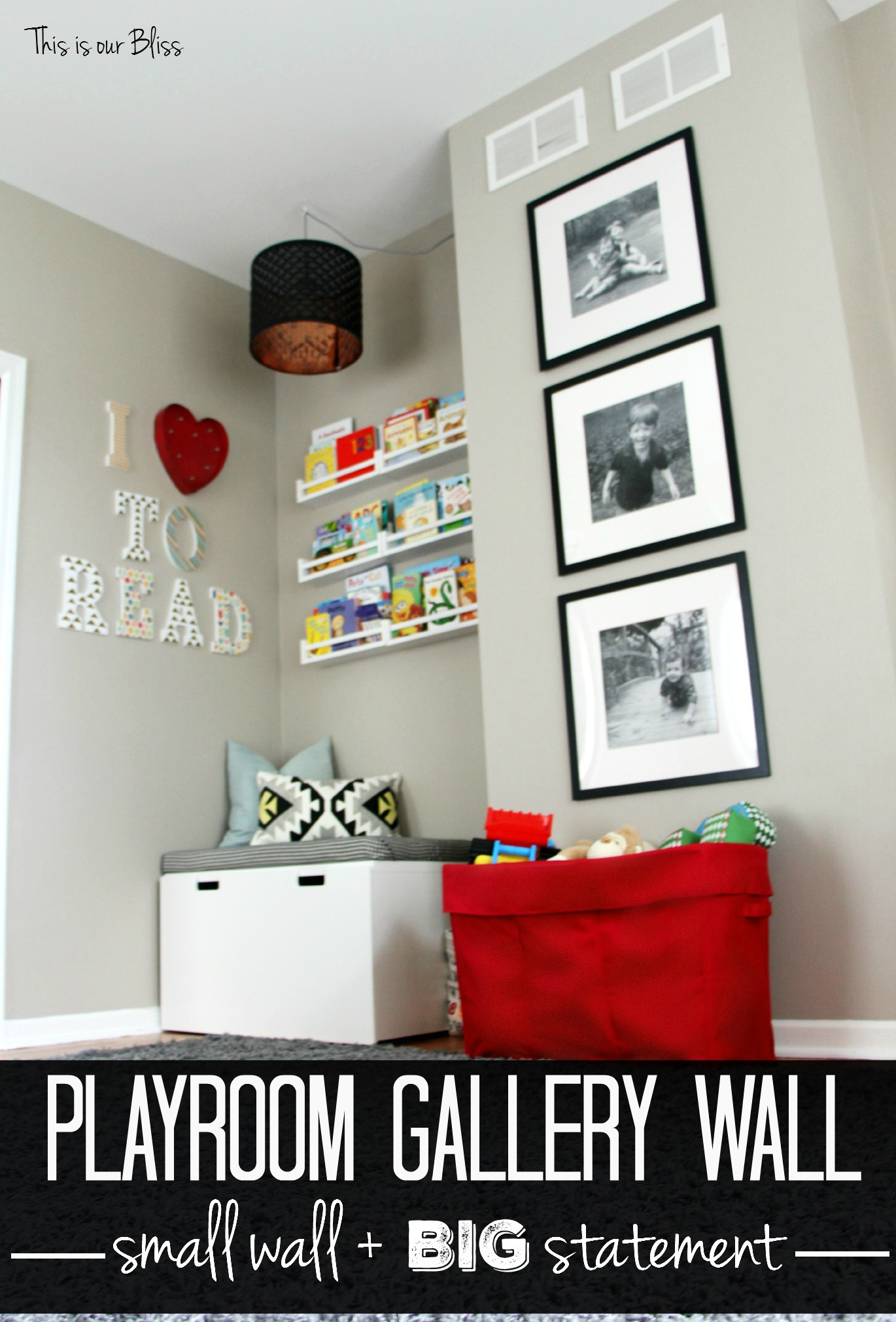 3 Stacked Frames Mini Playroom Gallery Wall This Is Our Bliss