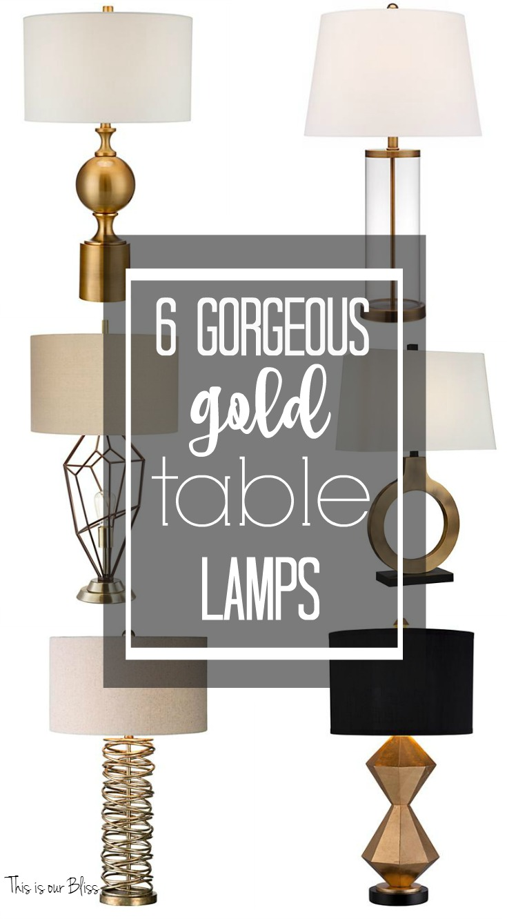 Picture of: New Year New Room Refresh Challenge Master Bedroom Week 3 Sneak Peek Gorgeous Gold Table Lamps This Is Our Bliss