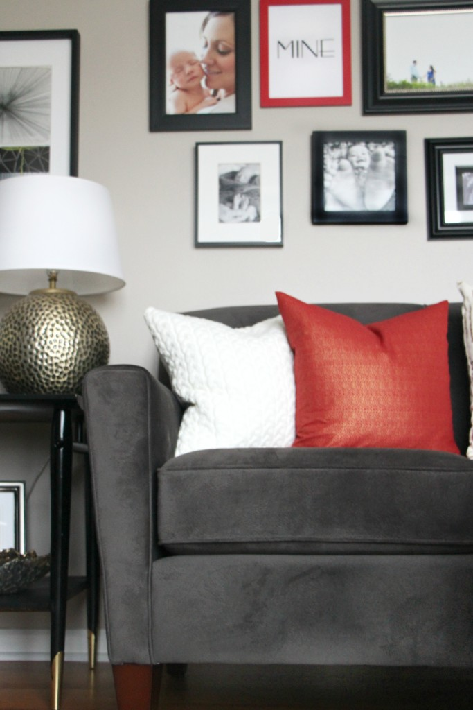 DIY budget gallery wall update Valentines day gallery wall DIY gallery wall update red, black and white living room gallery wall This is our Bliss www.thisisourbliss.com