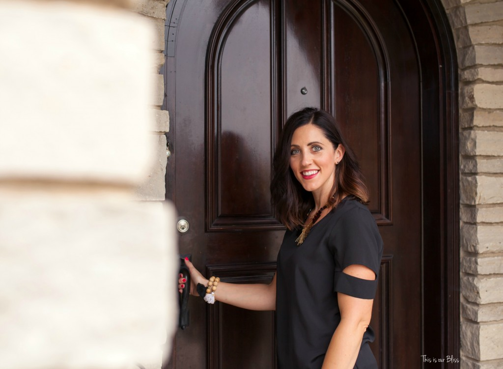 This is our Bliss in-home shoot - front door - thisisourbliss.com
