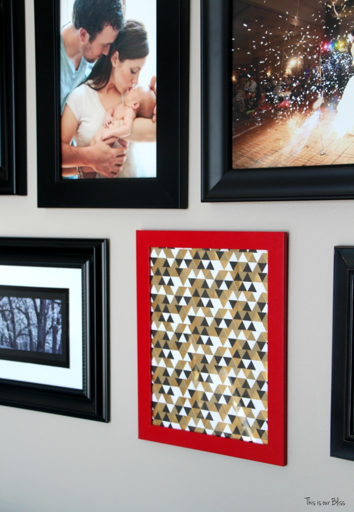 holiday gallery wall red, black, white and gold gallery wall living room gallery wall This is our Bliss www.thisisourbliss.com