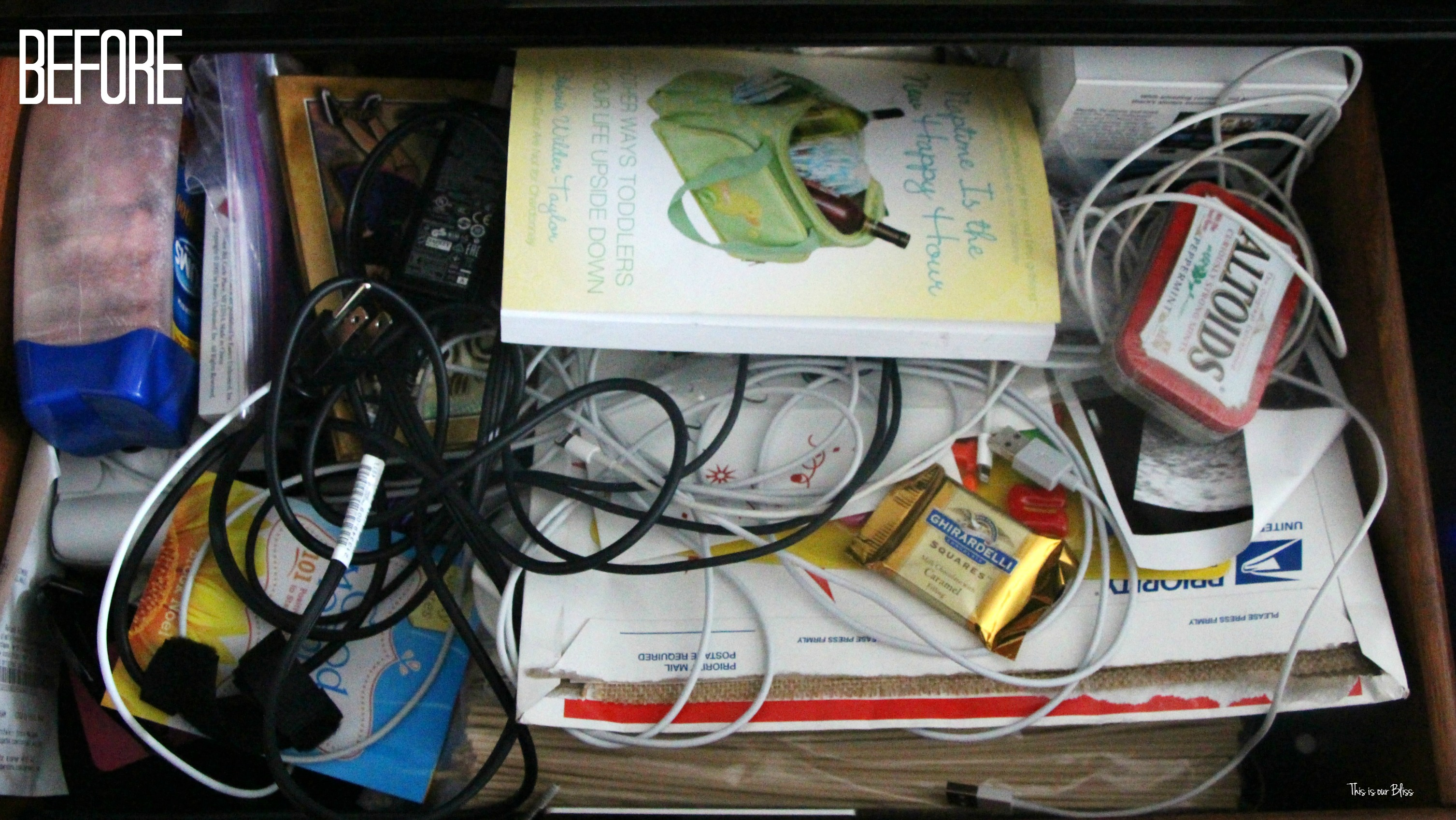 Operation Organize Everything Starting Small Bedside Table Drawer This Is Our Bliss
