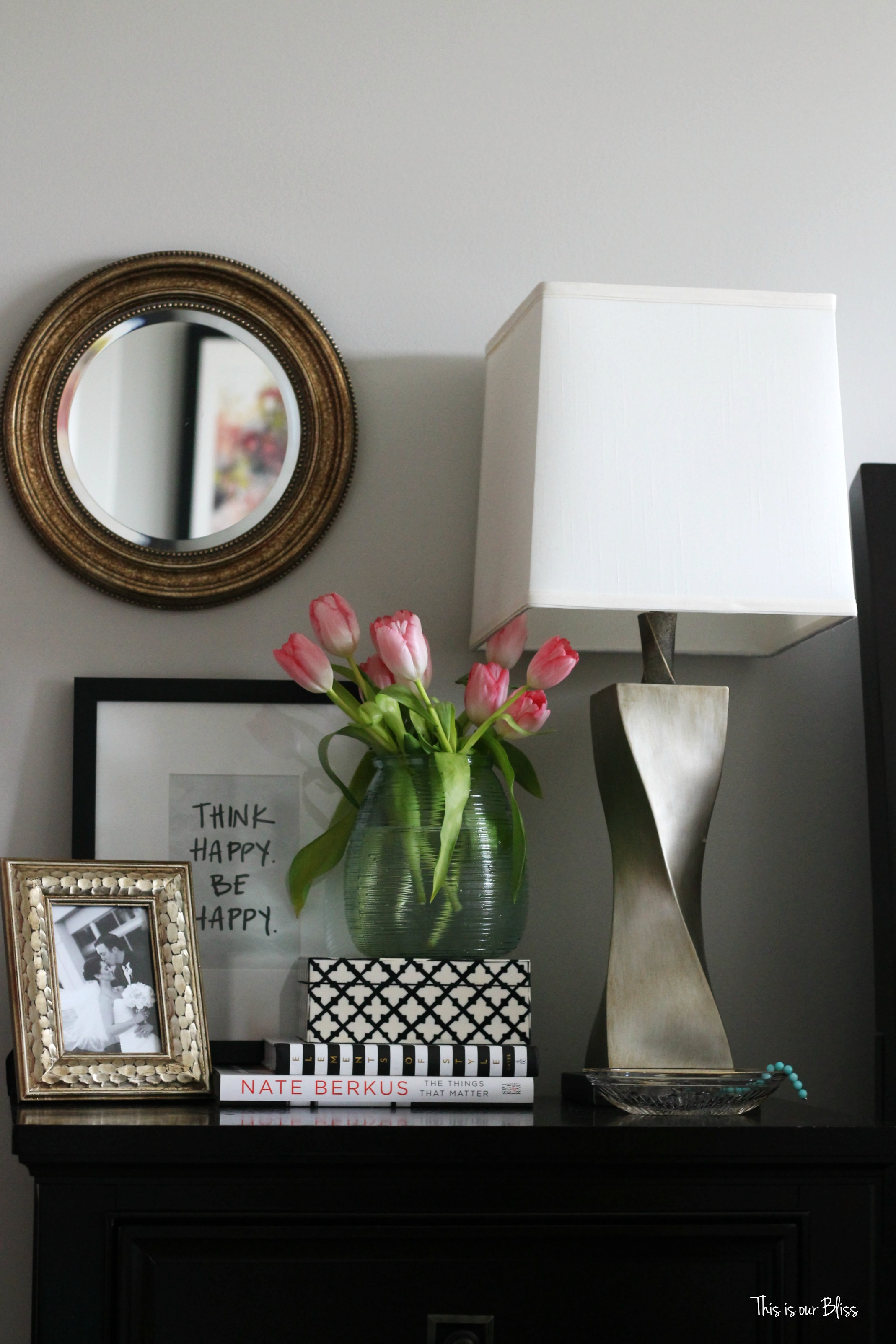 New year new room refresh challenge master bedroom week - How to decorate a nightstand ...