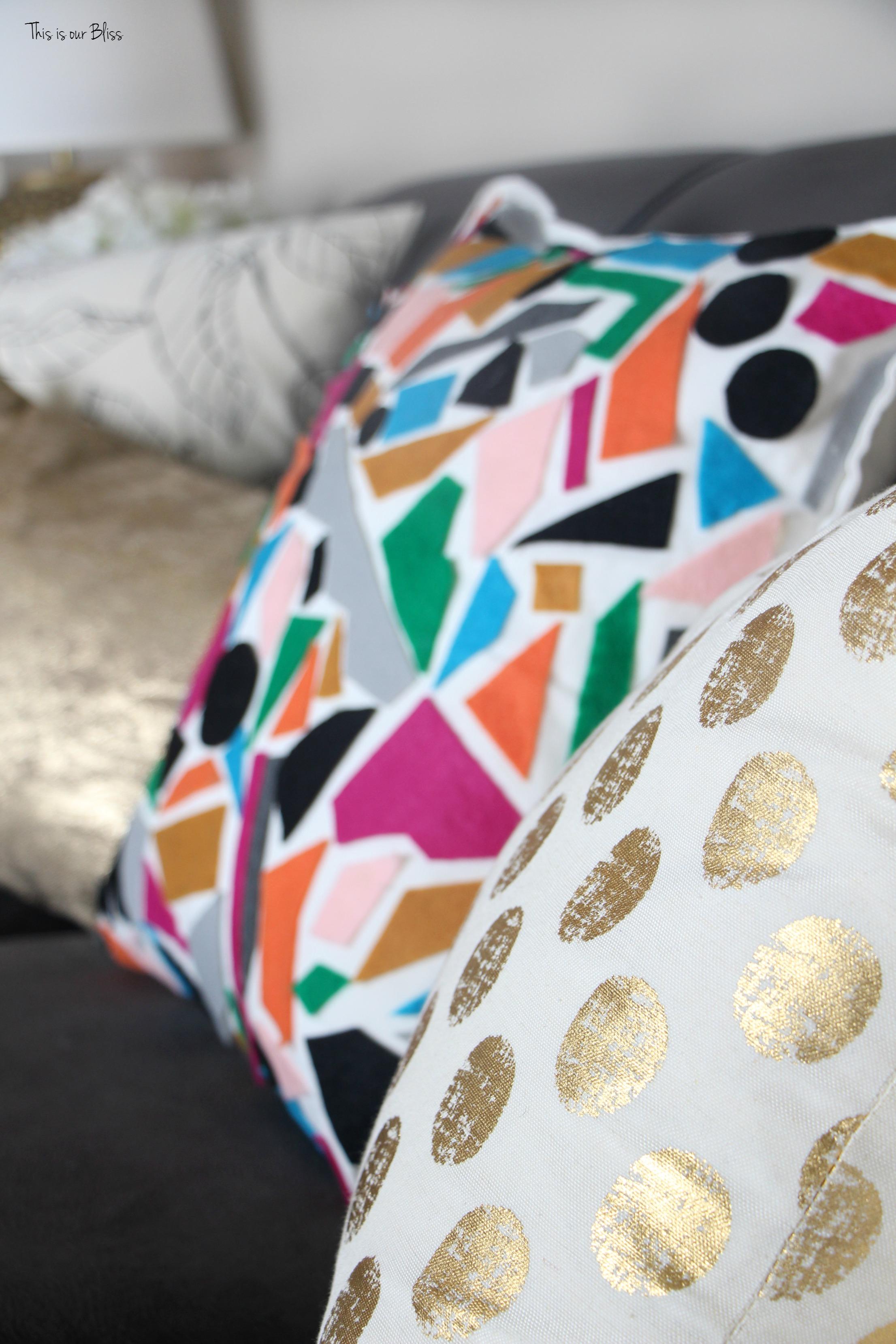 Knock it off DIY world market inspired pillow how to make a no sew felt pillow & How to DIY No-sew Felt Pillow | World Market Knock-off | This is ... pillowsntoast.com