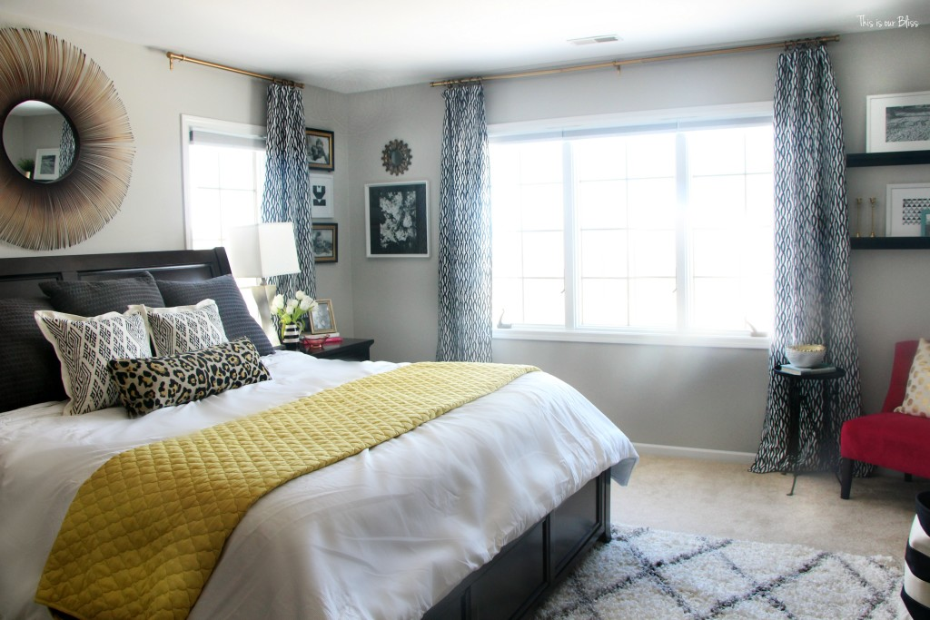 New year new room master bedroom refresh challenge - pattern play bedroom This is our Bliss www.thisisourbliss.com