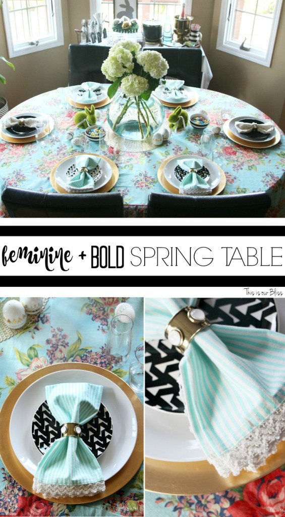 Spring Tablescape Easter table feminine & bold spring decor This is our Bliss