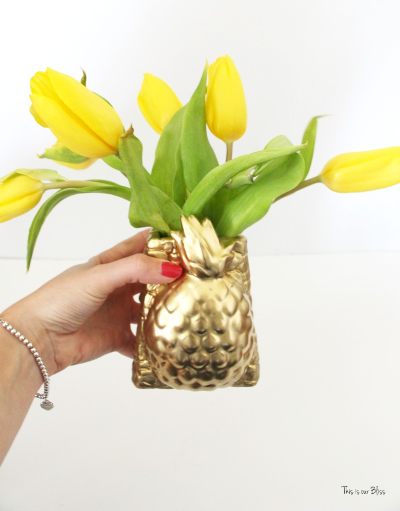 Thrifted find | Pretty Welcoming vase | gold pineapple vase 1 | Its so ugly its cool thrift challenge || This is our Bliss