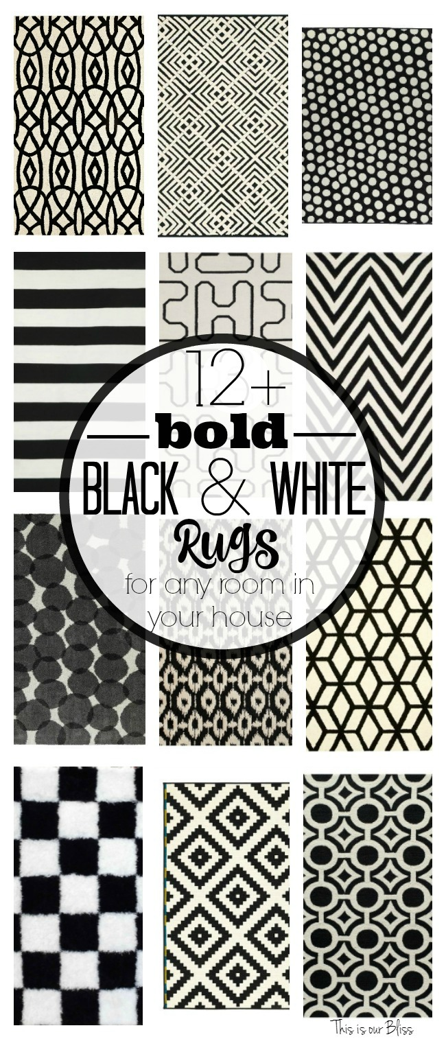12+ Bold Black and white geometric rugs for any room in your house Classic & fun rugs This is our Bliss