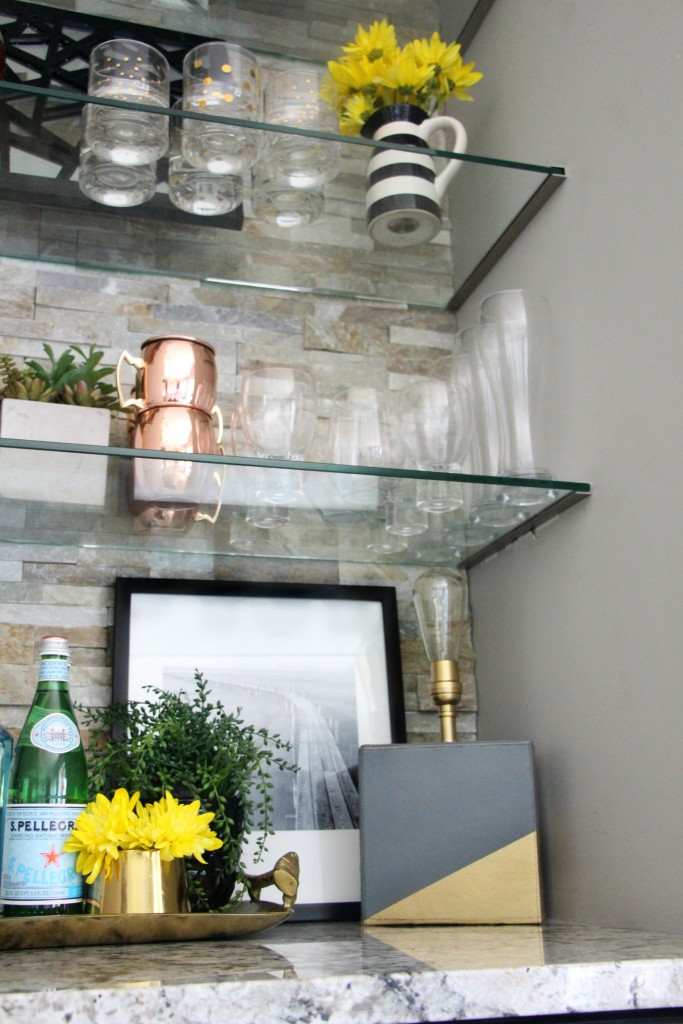 DIY color block lamp | create and share Lamp-alooza challenge | bar shelves | summer styling | This is our Bliss