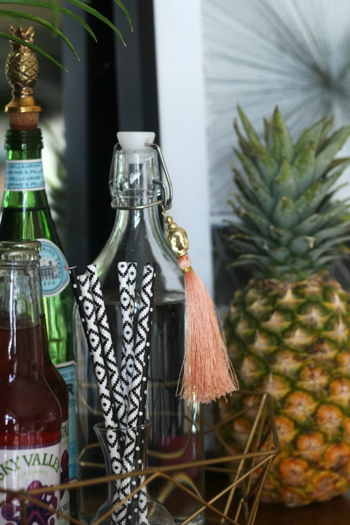 Eddie Ross Inspired by DIY summer bar styling tassel and pineapple accessories This is our Bliss www.thisisourbliss.com