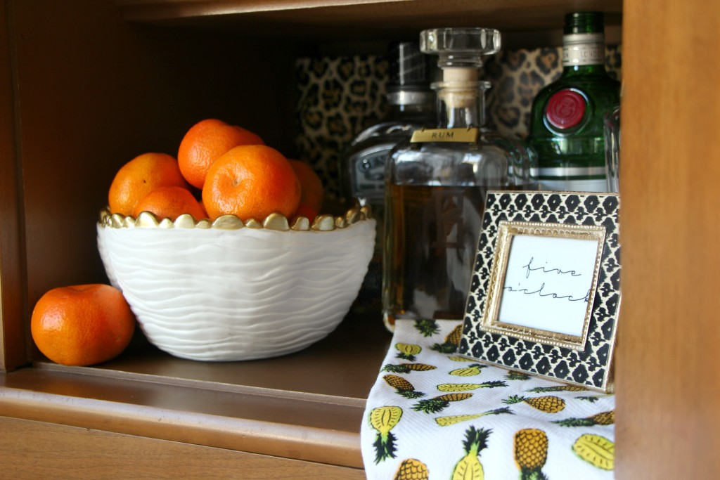 Eddie Ross Style | Inspired by DIY | Indoor Summer Bar | decanters | Leopard print | This is our Bliss