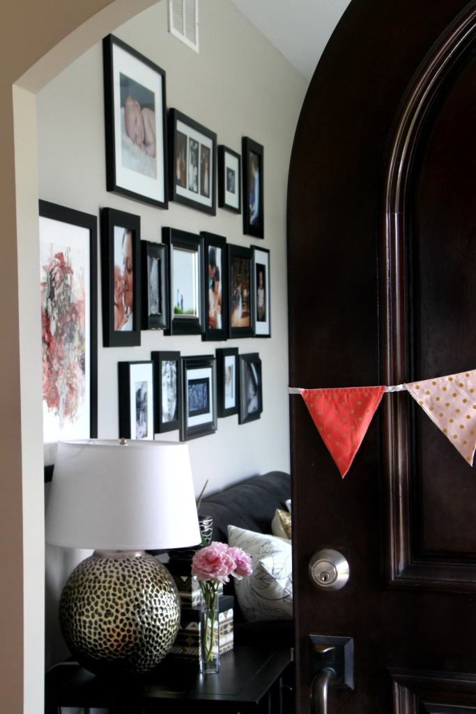 Summer Home Tour | Summer styled front door | Eclectic Summer Home Tour | This is our Bliss | www.thisisourbliss.com