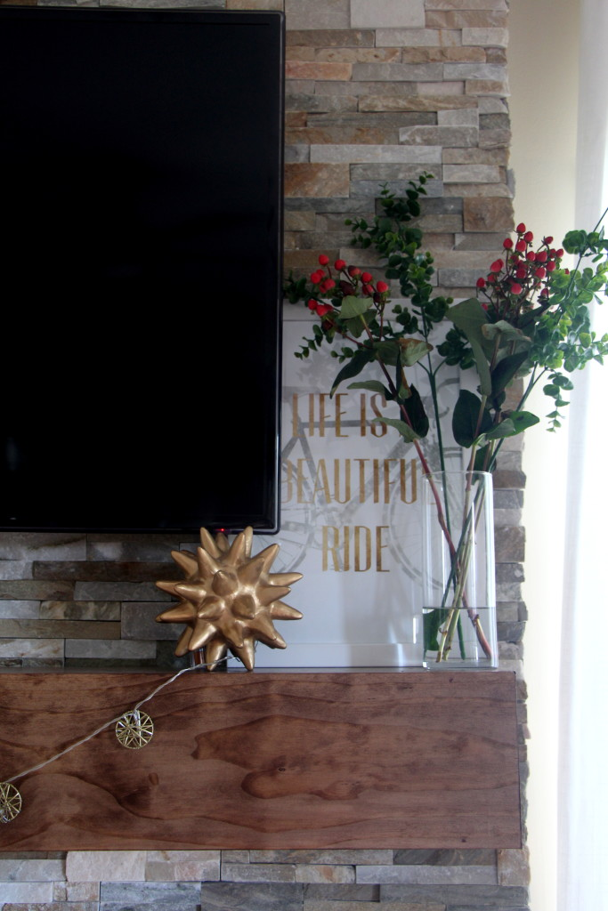 Summer Home Tour - Summer styled mantel - Summer Eclectic Home Tour - This is our Bliss