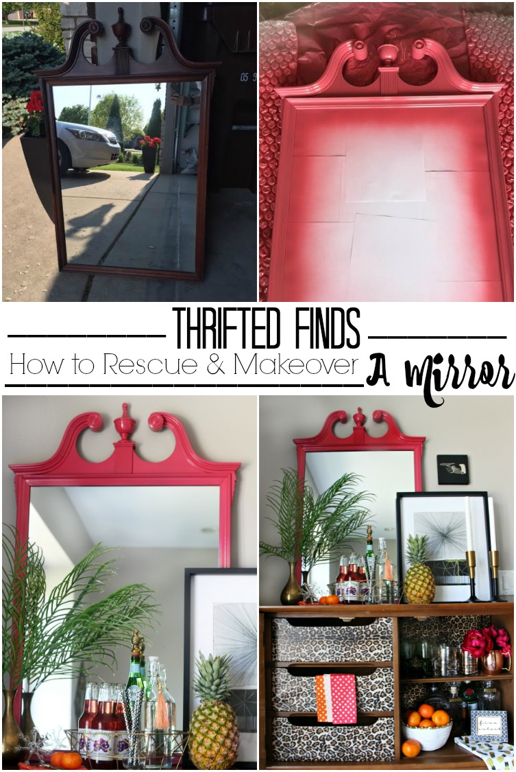 Thrifted find   how to makeover and rescue a mirror   Its so ugly its cool thrift challenge   This is our Bliss   www.thisisourbliss.com