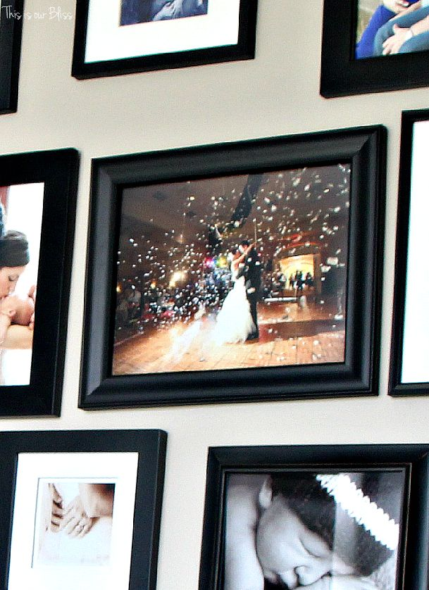 gallery wall frames | living room gallery wall of special moments | This is our Bliss
