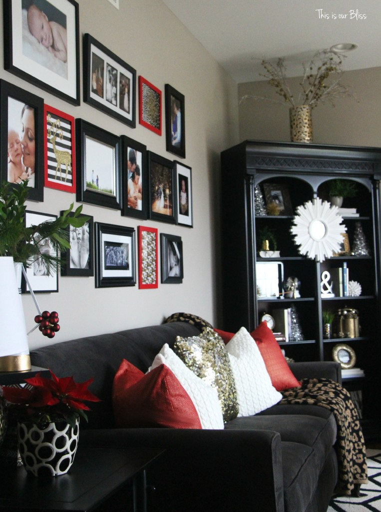 Christmas Formal living room | Mixing prints and patterns | Holiday planning | This is our Bliss | www.thisisourbliss.com