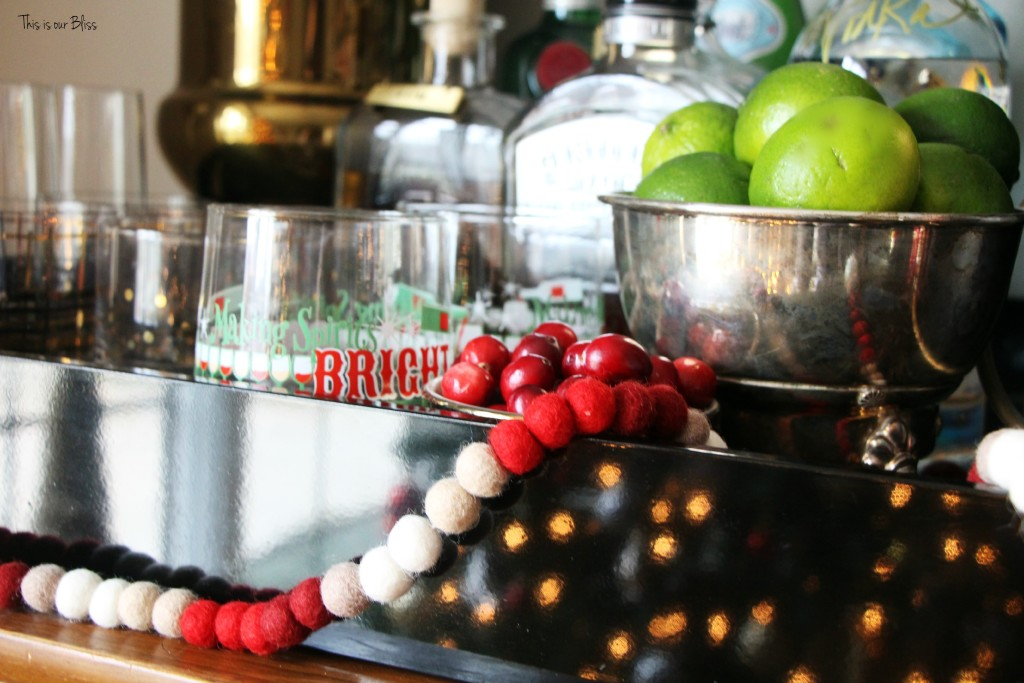 Creating a Christmas Bar | holiday entertaining | This is our Bliss | www.thisisourbliss.com
