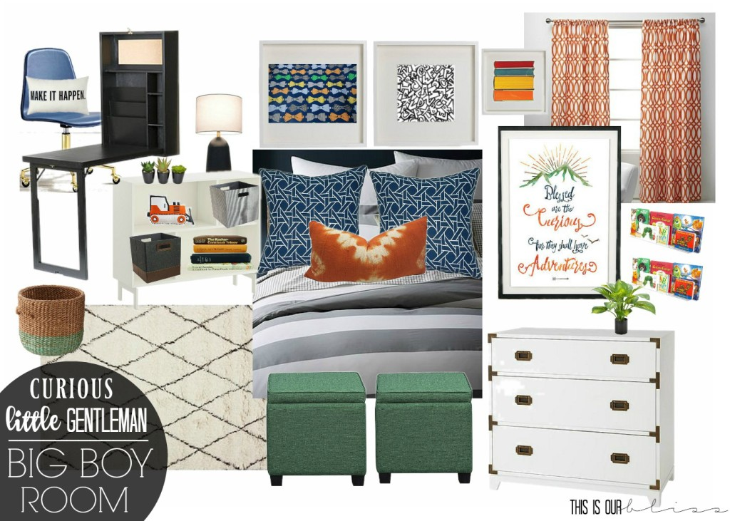 Curious Little Gentleman Big Boy Room Design Board   This is our Bliss   www.thisisourbliss.com