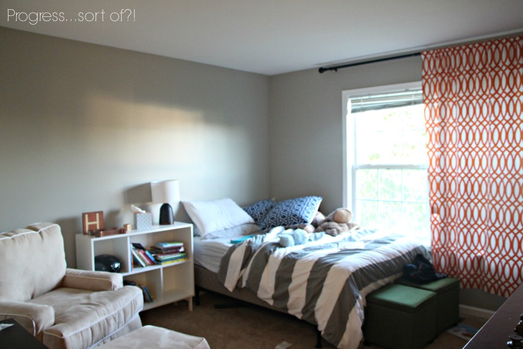 Making progress on the big boy room!! | This is our Bliss | www.thisisourbliss.com