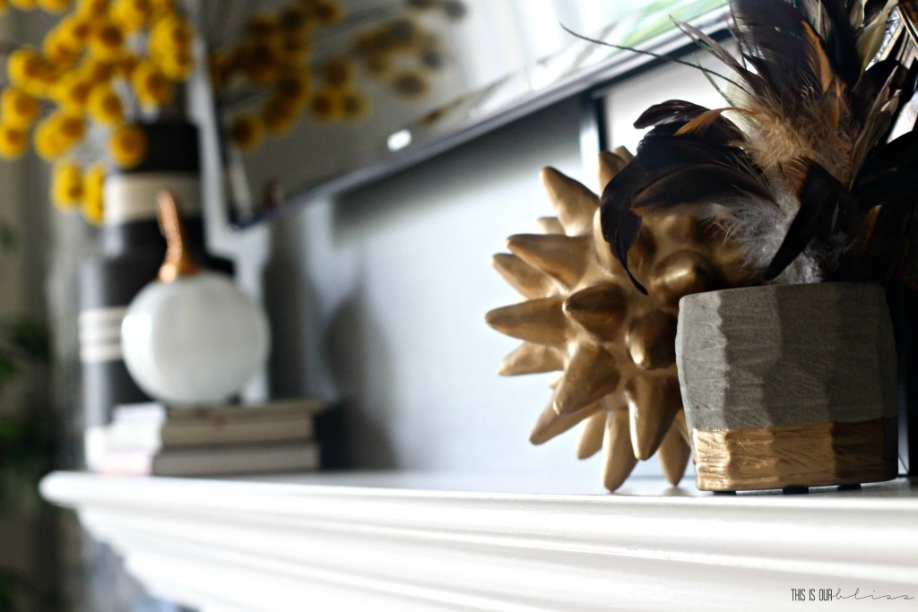 family-room-fall-mantel-with-feathers-this-is-our-bliss-www-thisisourbliss-com