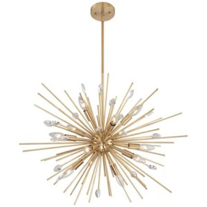 The perfect gold chandelier for a glam contemporary dining space! | This is our Bliss | www.thisisourbliss.com