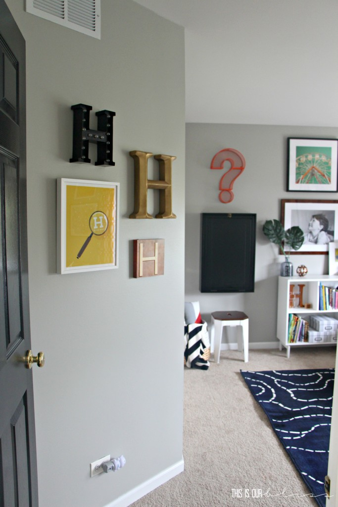 Bold & Graphic Big Boy Room | Curious Little Gentleman | This is our Bliss | www.thisisourbliss.com
