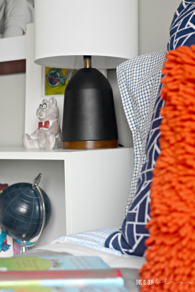 bright bold and colorful pattern play in a little boy space | This is our Bliss