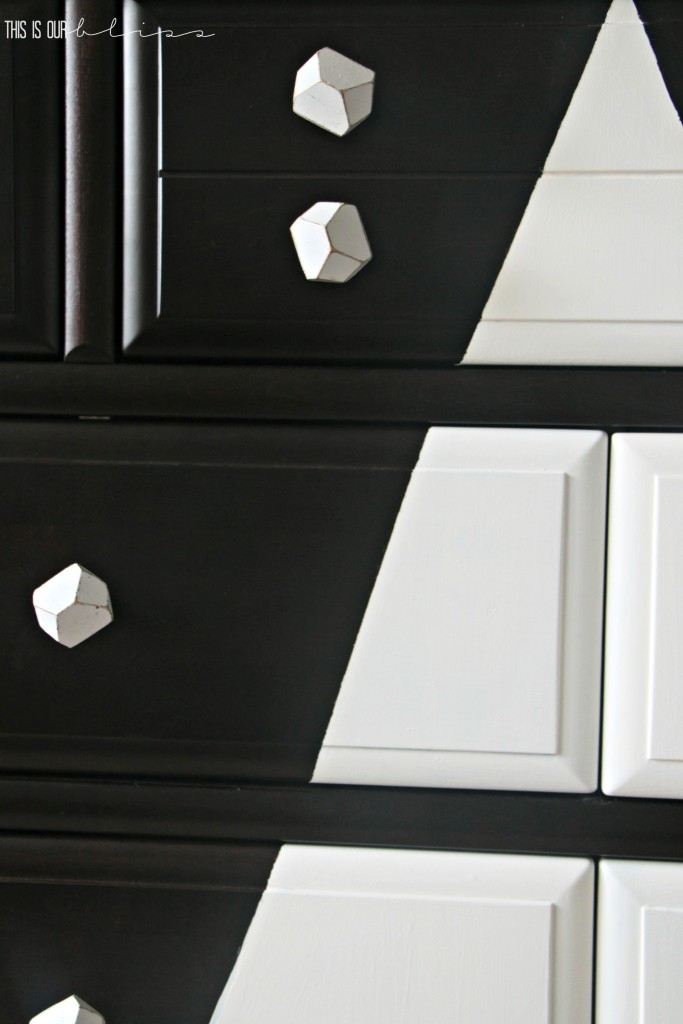 dresser update to give a graphic, modern twist! so cute for a little boy's room | This is our Bliss
