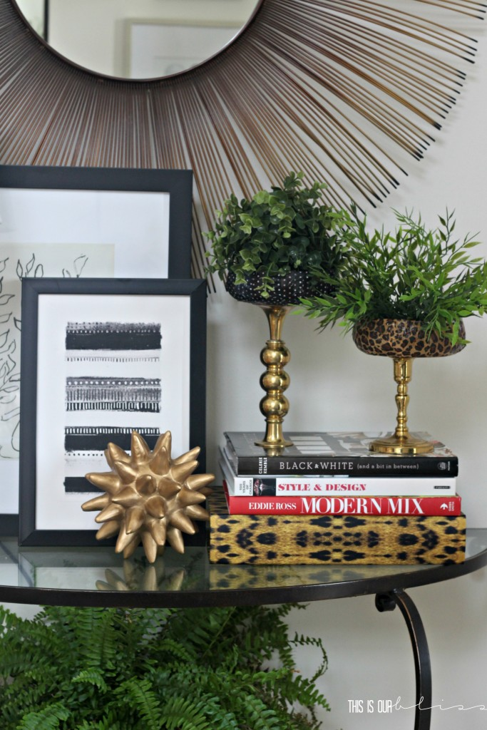 Patterned & Brass Faux Planter stands | Swap It Like Its Hot | This is our Bliss