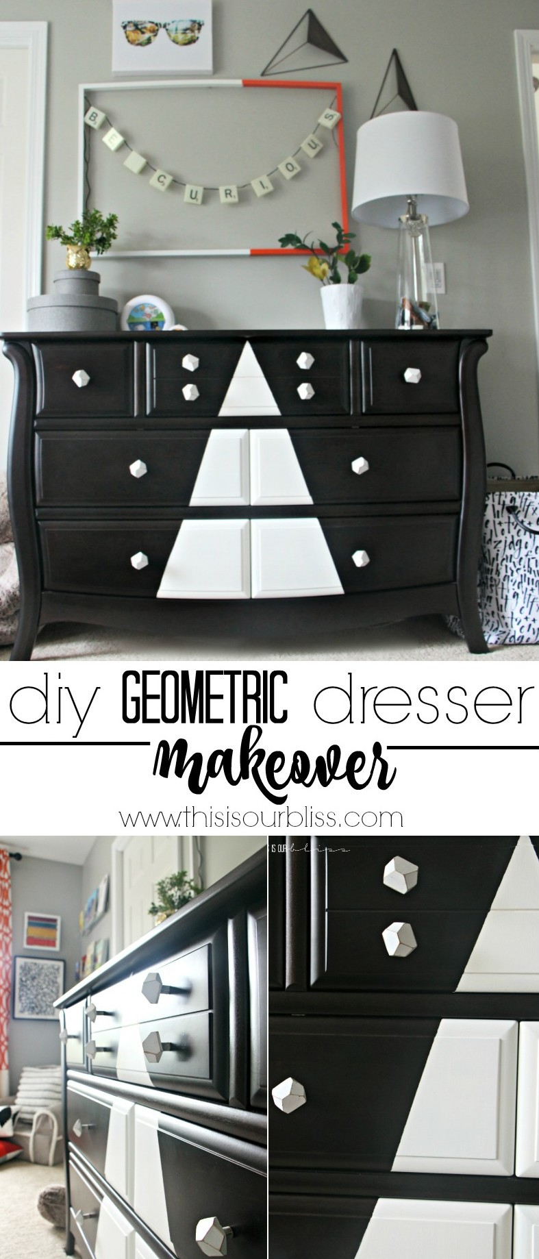 How to update an old nursery dresser | Modern Big Boy Room Dresser update | This is our Bliss | www.thisisourbliss.com